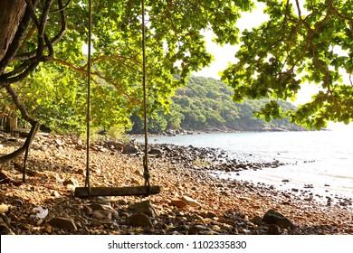 Landscape at Con Dao island (Vietnam) in a sunny day