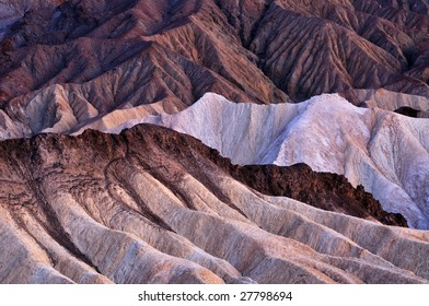 Landscape at dawn of Golden Canyon, Death Valley National Park, California, USA