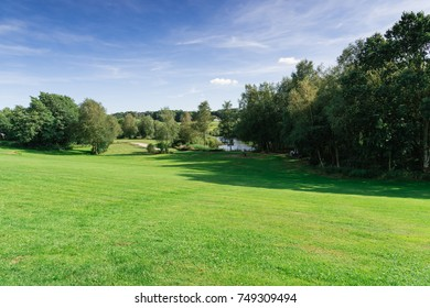 landscape in Denmark with a lake near Billund.