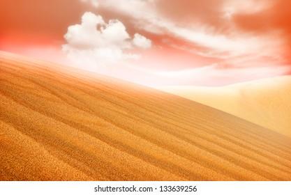 Landscape of desert dune in Sahara