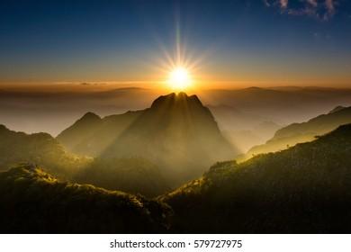Landscape from Doi Luang Chiang Dao - Chiangmai, Thailand