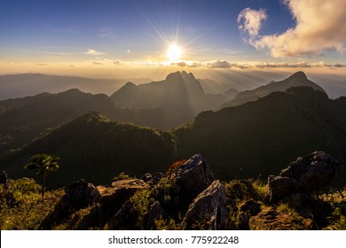 Landscape of Doi Luang Chiang Dao, The third highest mountain in, Thailand