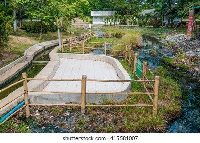 Landscape of Doisaket Hot Spring, Thailand.