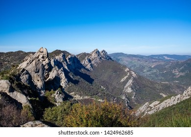 Landscape of Dolomites of Basilicata mountains called Dolomiti Lucane. Basilicata region, Italy