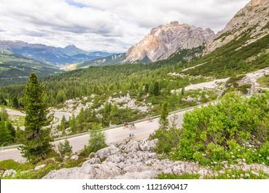 Landscape Dolomites Cycling Alta Badia Trentino Alto Adige Italy
