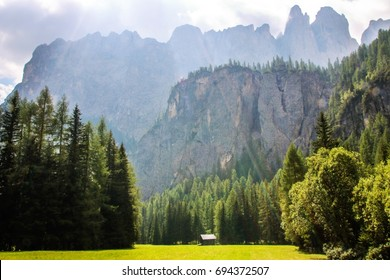 Landscape of Dolomites mountain in Sud Tyrol, Italy