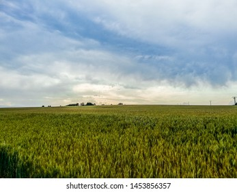 Landscape with dramatic and cloudy sky in the Eifel