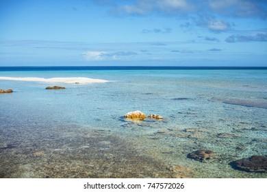 Landscape and dream beach in Polynesia, Tahiti