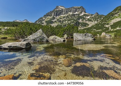 Landscape of Dzhangal peak and Banski lakes, Pirin Mountain, Bulgaria