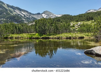 Landscape of Dzhano peak and Banski lakes, Pirin Mountain, Bulgaria