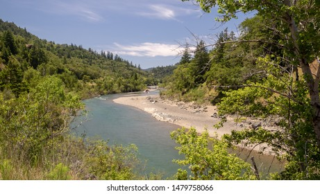 Landscape of Eel river in northern california, usa