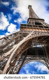 landscape of the Eiffel Tower in Paris