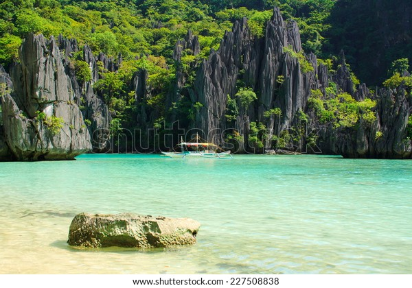 Landscape El Nido Palawan Island Philippines Stock Photo