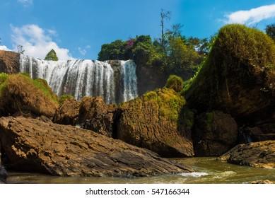 Landscape of Elephant Falls in Da Lat, Vietnam