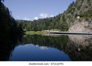 landscape of emerald lake