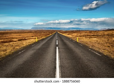landscape with empty asphalt road