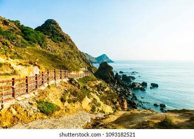 Landscape of Eo Gio bay in Qui Nhon Vietnam