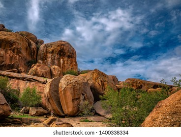 Landscape of the Erongo Mountains in northern Namibia during summer