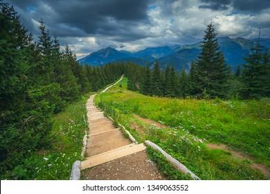 Landscape in European mountains, High Tatras, Malopolskie Poland