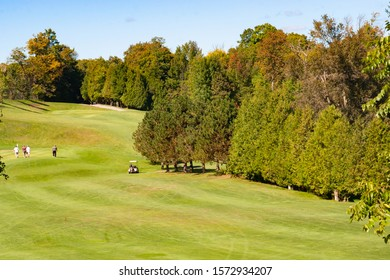 landscape fall foliage at Golf Course