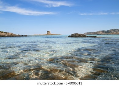 Landscape of a famous Sardinia beautiful beach