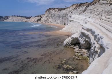 Landscape of a famous Sicilian beautiful coast