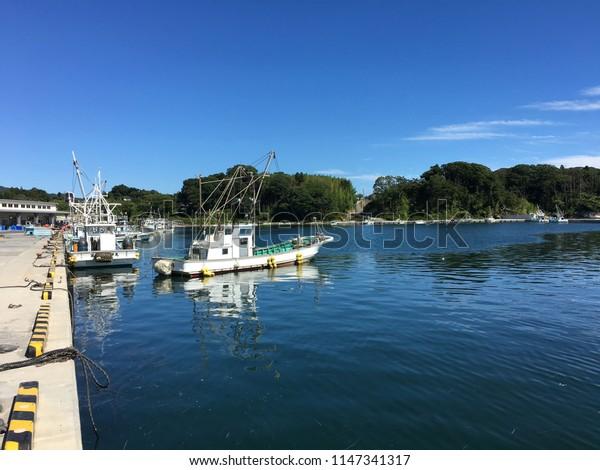 Landscape fishing harbor