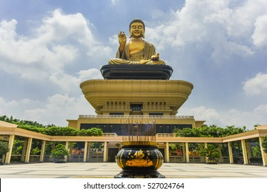 "Landscape of Fo Guang Shan Buddha Memorial Center, Kaohsiung (with chinese character "" Budda on the Incense Burner) ,Taiwan"