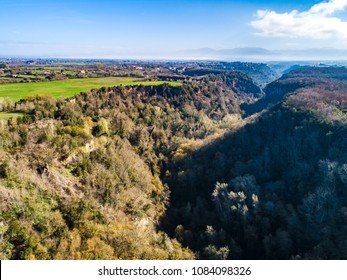 Landscape of the forest in the province of Viterbo in Italy.