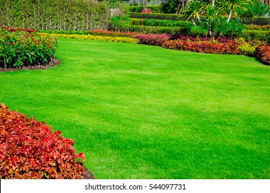 Landscape formal, front yard is beautifully designed garden.