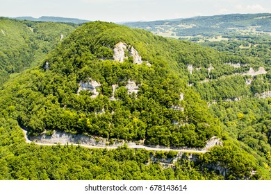 Landscape of the French Jura forest