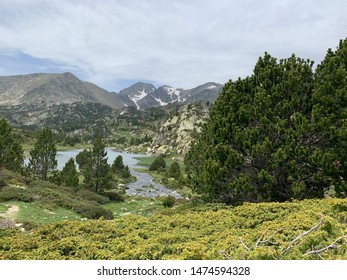 Landscape in French Pyrenees during summer season