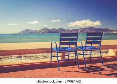 Landscape of the French Riviera: International Film Festival - Cannes - la Croisette - Alpes-Maritimes