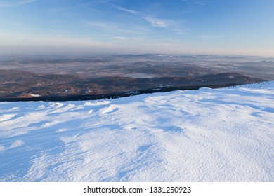Landscape of the Giant mountains (Krkonose) in winter