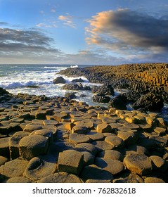Landscape of Giant's Causeway, County Antrim, Northern Ireland, UNESCO World Heritage Site