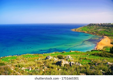 Landscape of Gozo Island, Malta