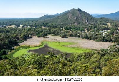 Landscape in the Grampians region of Victoria, Australia
