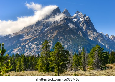 Landscape of Grand Teton National Park in the autumn, Landscape Photography