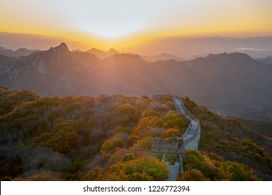 landscape of the great wall in beijing,China