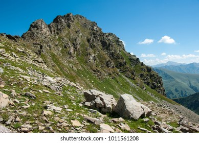 Landscape of Greater Caucausus mountain, Russia