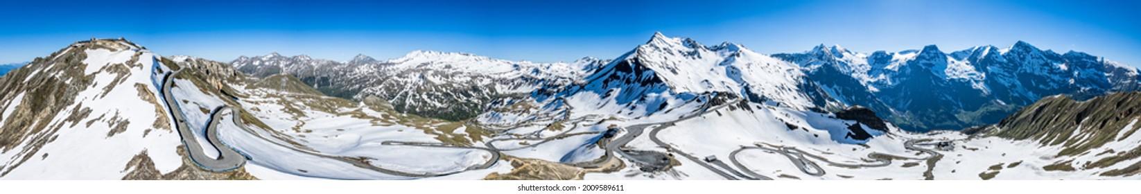 landscape at the Grossglockner Mountain in Austria