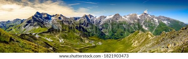 landscape at the Grossglockner mountain in austria - photo