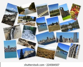 landscape group of images
