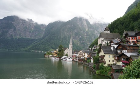 The landscape of Hallstatt (Austria)
