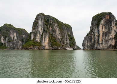 Landscape in Halong Bay, Vietnam. The bay is a UNESCO World Heritage Site.