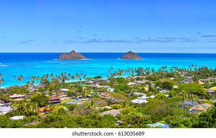 Landscape of Hawaii Lanikai Beach