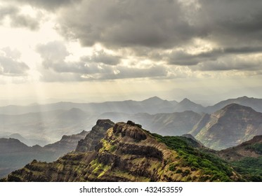 Landscape with Hills, Clouds and Valley