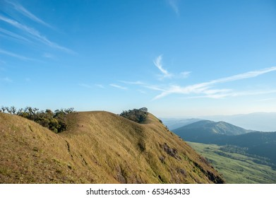 landscape of hills,Mon Chong mountain, Chiang Mai, Northern part of Thailand