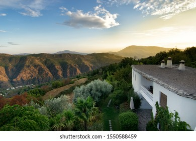 Landscape with house in Alpujarra in Andalucía. Spain.