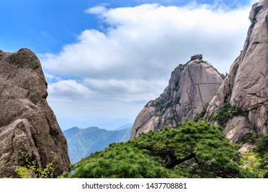 Landscape of Huangshan (Yellow Mountains).UNESCO World Heritage Site.Located in Huangshan,Anhui,China.